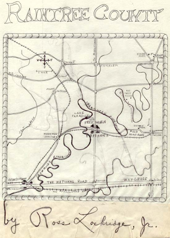 Raintree County Map Sketch